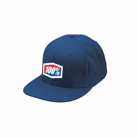 100% ESSENTIAL J-FIT Flexfit Hat Navy